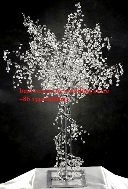 10pcs Dia40cm Acrylic Crystal Wedding Centerpiece Tree Road Lead