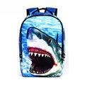 3D акула Животных Рюкзак Женщины Мужчины путешествия Ноутбук Рюкзак Школьные Сумки для подростков девочек Рюкзаки Печати Сумка Повседневная mochila