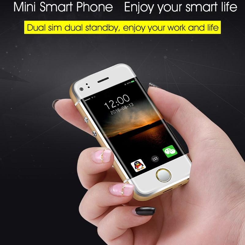 Original SOYES 6S Super Mini Android Smart mobile Phone MTK6572 Dual Core Dual SIM Dual standby Unlocked Pocket Cell Phone