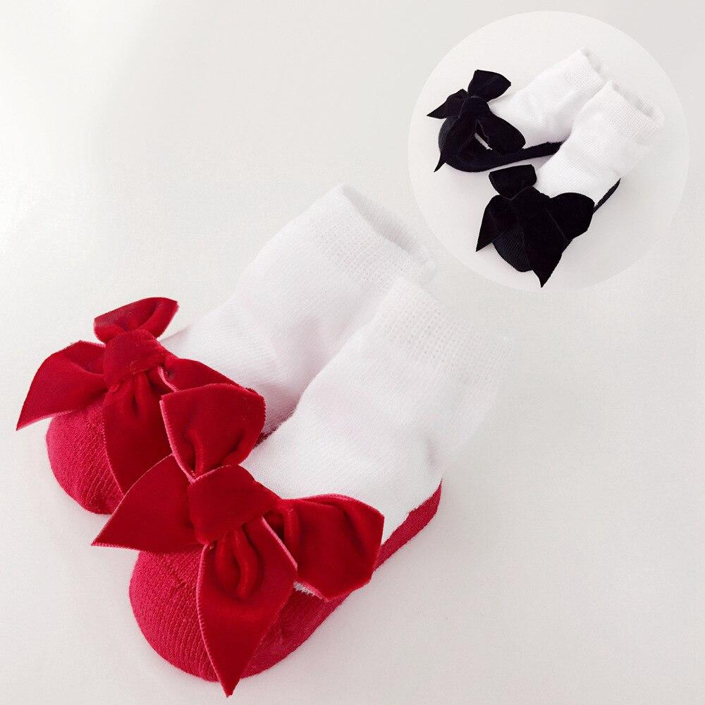 Mery Baby Socks Velvet Bow Socks For Girls Newborns Princess Holiday Birthday Gifts For Girls Fashion Baby Boy Clothes 0-24m Superior Materials