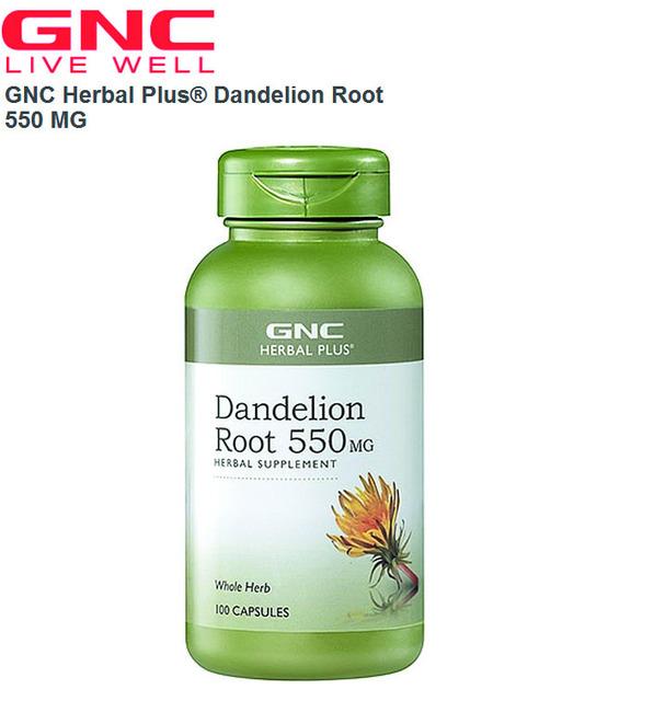 Dandelion Root 550 MG 100 Cápsulas Frete grátis