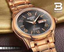 Suisse montres hommes marque de luxe Montres BINGER lumineux Automatique auto-vent complet en acier inoxydable Étanche BG-0383-6