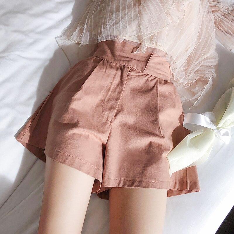 Mishow Leisure Female Summer Show 2018 New High-waist Sealed Girl Student Broad-legged Bottom Shorts MX18B2441