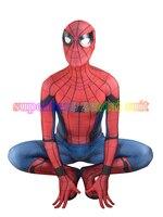 3D Baskı 2017 Yeni Örümcek-adam Homecoming Spandex Zentai Kostüm İç Savaşı Örümcek Adam Kostümleri Spidey Cosplay Özel Film Takım