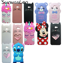 For Samsung Galaxy J4+ J6+ / J4 Prime J6 3D Case Cartoon Soft Silicone Cases Phone Back Cover Skin Shell Plus