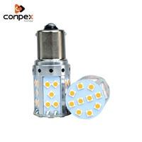 conpex 12V LED Yellow light Car Light rear Turn signal lamp CANBUS 1156 1157 3030 SMD 35smd Car Daytime Running Light