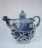 Home Decoration Beautiful Chinese Antique Bird Style Porcelain Tea pot/Classic White and Blue Ceramic Pot 03
