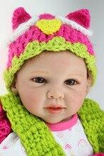 Nouveau Bébé Poupée 20inc/50 cm Souple en silicone reborn poupées Réaliste et Réaliste cheveux enracinée