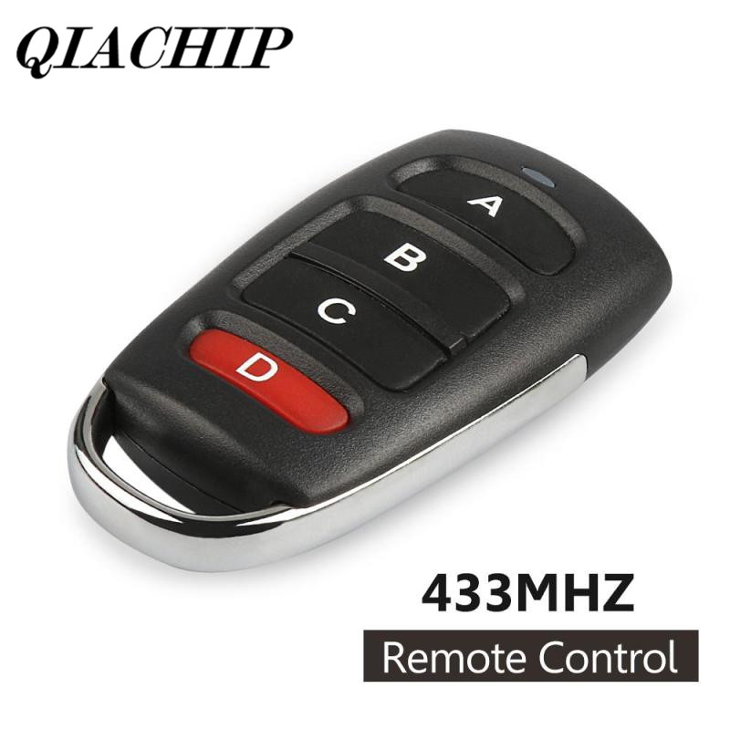 QIACHIP 433mhz Remote Control Switch 4 Buttons Copy Cloning Electric Garage Door Security Alarm Controller Key Fob Car Keys DS45 binge elec 16 buttons remote controller 433 92mhz only work as binge elec remote touch switch hot sale