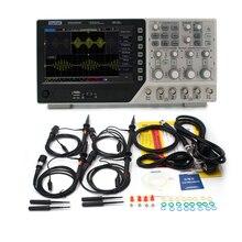 Hantek DSO4254C デジタルオシロスコープ 250 mhz 4 チャンネル lcd ディスプレイ usb オシロスコープ 7 インチハンドヘルド portrail osciloscopio