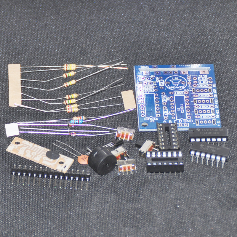 DIY Electronic Kit 16Kinds of Music Box Beeper Switch Suite Trousse Sound Simula
