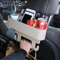 BROSHOO Car Back Seat Anti Slip Hook Drink Cup Holder Slit Storage Mount Phone Card Auto
