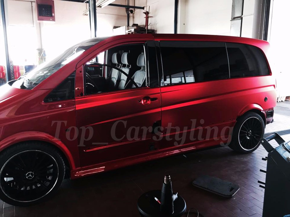 apa red matte chrome bronze car wrapping film with air bubble free luxury wrap foil (25)