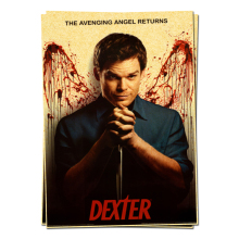 dexter angel television posters retro poster vintage home decor adornment character Wall Sticker(China)