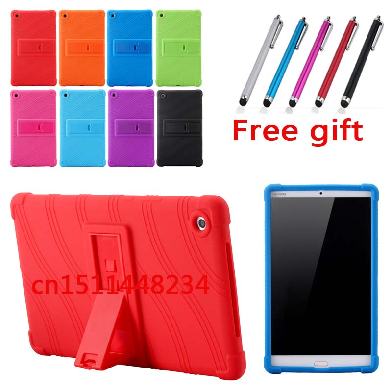 High-quality fashion shockproof Silicone stand case For Huawei MediaPad M5 8.4 SHT-W09 SHT-AL09 M 5 8.4 inch m5 shell skin+pen