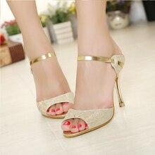 Women Sandals Sexy High Heels Women Pumps 2017 Women Shoes Gold Silver Summer Sandals Heels Ladies Shoes