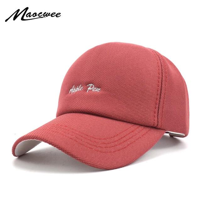 2018 Apple pen Embroidery Baseball Cap Women Messy Bun Breathable Baseball  Spring and summer Sun Hat 85c8e09dab21