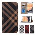 Verificar stype leather flip phone case para iphone 6 6 s 7 plus 5 5S carteira capa cartão titular stand case capa para samsung s6 s7 edge