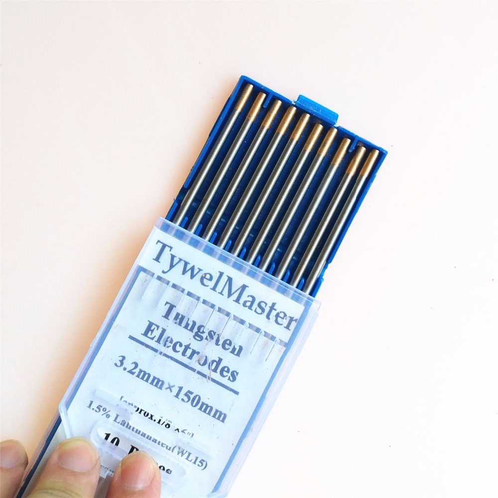 Select 1.6mm 2.4mm or 3.2mm Tig Welding Gold Tip Tungsten Electrodes Rods
