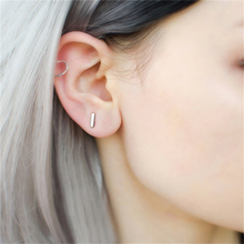 Fashion 925 Sterling Silver Stud Earrings For Women Punk Style Minimalist T Shape Earring Female Gifts gothic style dragon shape earring