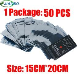 15*20 センチメートル帯電防止シールドバッグ静電気抗帯電防止パッケージバッグジップロック防水自己シール帯電防止収納パックバッグ