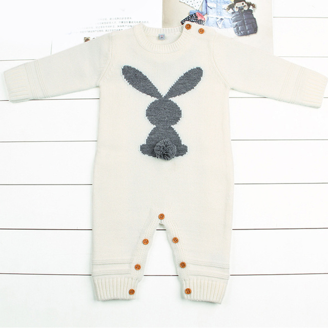 Warm Knitted Rabbit Baby...