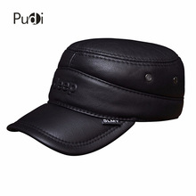 HL024 genuine leather baseball cap/hat brand new real adjustable caps/hats