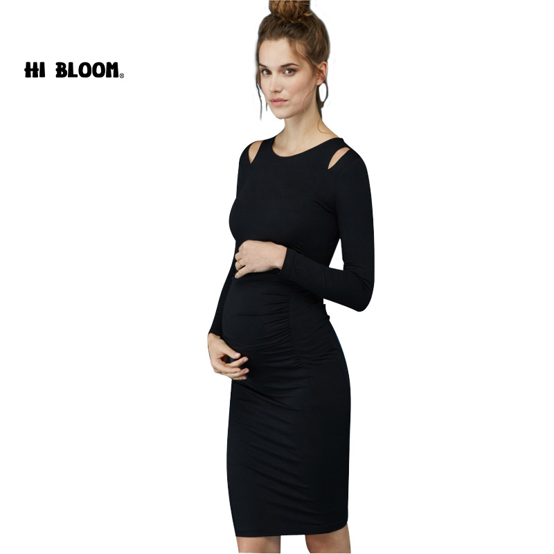 87ed03978e804 Brand Evening Dress for Pregnant Women Maternity Clothes Spring Women Dress  Elegant Office Lady Clothing VestidosS