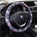 3 COLORS breathable Steering wheel 38CM Faux leather Racing Black covers Hubs British 4 Seasons Car Accessories