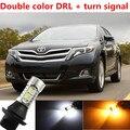 Para acessórios venza DRL LED Daytime Running Light & Luz Xenon Branco + Âmbar Turn Signal Frete grátis
