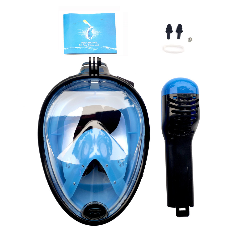 Rosto cheio máscara de mergulho anti nevoeiro