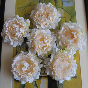 Image 2 - 15pcs/lot 13cm Artificial Happy Peony Silk Flowers Fake Flores Artificiais Wedding Party Decoration Home DIY Landscape Wholesale
