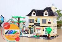 Wange 34053 816 unids gran villa compatible con 3D muñeca houe modelo bloque de construcción Educación Aprendizaje juguete lepin