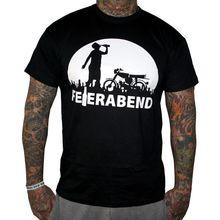 Bordstein T-Shirt Feierabend Schwarz Moped Simme  Sime Feldwegheizer Herren Print T Shirt Men Brand Clothing
