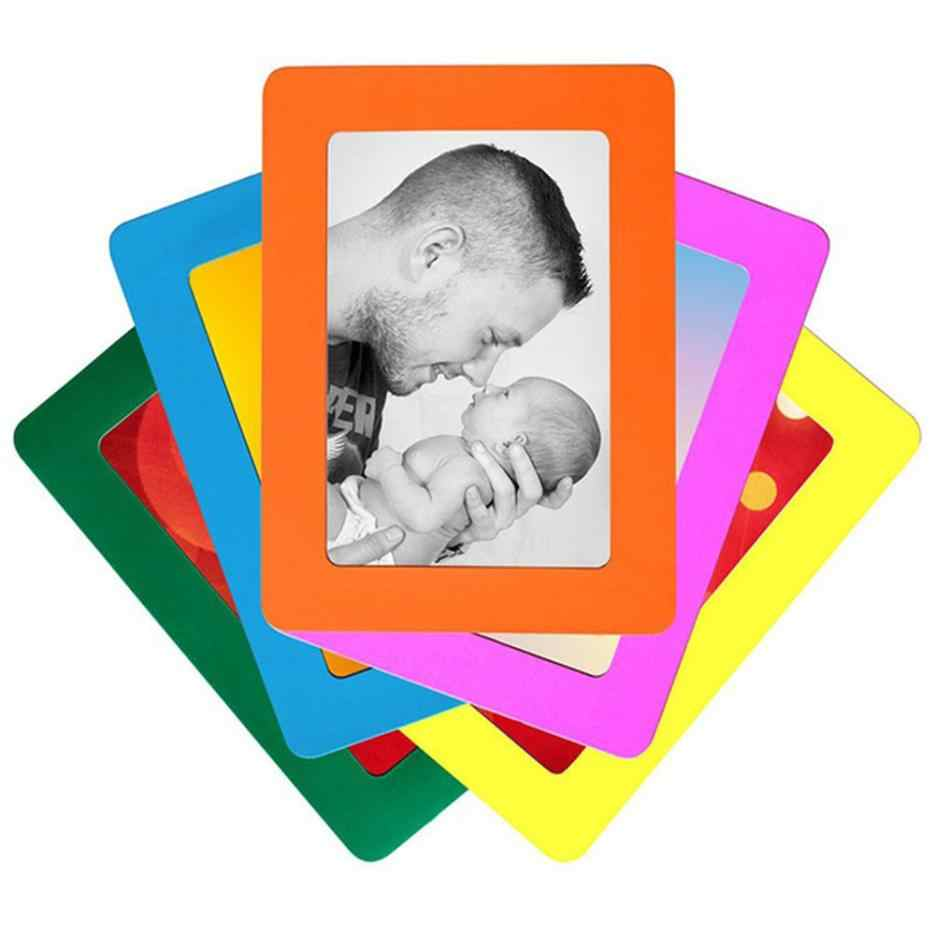 Colorful Magnetic Picture Frames 11.8*16cm Photo Magnets Photoframe Refrigerato PVC 160mm*118mm  Magnetic Photo Frames #42705