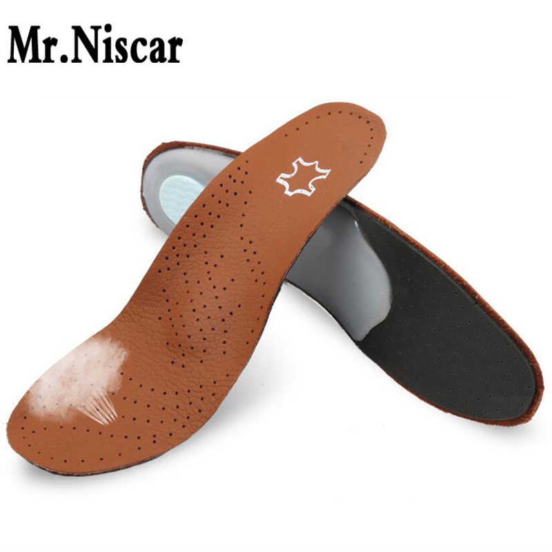 e0b463b898 Mr.Niscar High quality Leather orthotics Insole for Flat Foot Arch Support  28-30mm