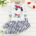 fashion Baby clothes Sets 2pcs Autumn Baby girls Clothing Outfit Cartoon Panda Newborn baby Boys Clothes Set Bebes Toddler