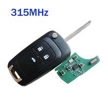 3 Botões Chave Remota Do Carro para Chevrolet Malibu Cruze Sail Aveo Faísca Automóvel Controle Keyless Entry 315 MHz/433 MHz ID46 Chip