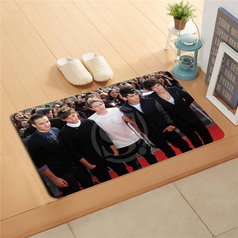 v264f& Custom One Direction Doormat Home Decor Door mat Floor Mat Bath Mats foot pad 264cmds-718k
