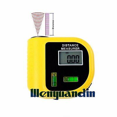 Лазерный ультразвуковой Портативный ручной Дальномеры дальномер метр пузырьковый уровень диапазон 20 м измерительный инструмент