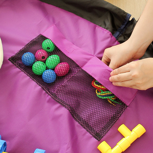 Image 5 - Portable 78 Inch Large Play Mat For Kids Playmat Multi function Car Toys Storage Bag Organizer Family Picnic Playing Mats 200CM