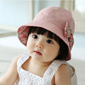 Girls hat cotton baby hat female princess bucket hats sun-shading hat  double faced 6-24 months baby Children Girls Clothing