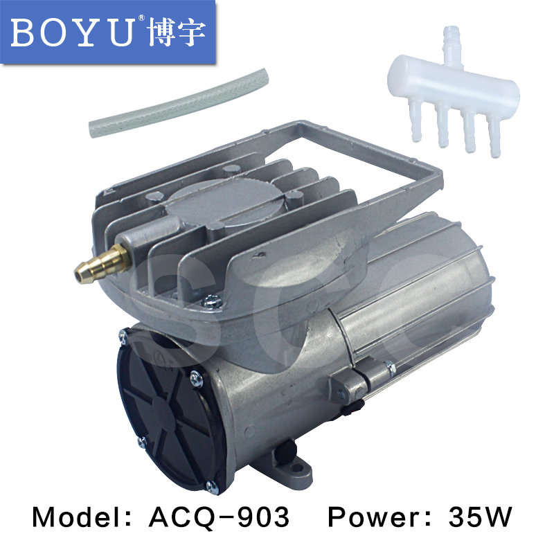 New DC 12V 70L min 35W Permanent magnet DC diaphragm Air Compressor Oxygen pump Fish Tank