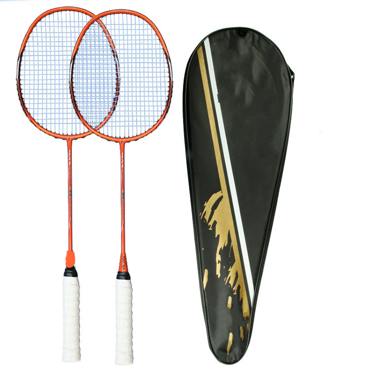 Carbon Fiber Badminton Racket, Amateur Junior Competition And Training For Adults And Adolescents, 2 Pcs (a Pair) 20~22 Pounds