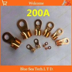 O typu 10.2 MM OT 200A miedziane ostrze terminal  200A zacisk akumulatora dla samochodów e bike itp. duży prąd zacisk uziemiający|Zaciski|Majsterkowanie -