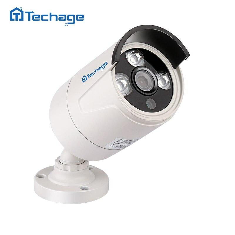 Techage HD 720 P 1080 P 2.0MP POE de Sécurité IP Caméra 3 PCS LED Array Étanche Extérieure P2P Onvif Surveillance CCTV Caméra Bullet