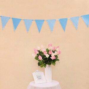 Image 4 - 12 флагов, 18 см, гирлянды из розового золота, флажки баннеры на день рождения, украшения для детской вечеринки