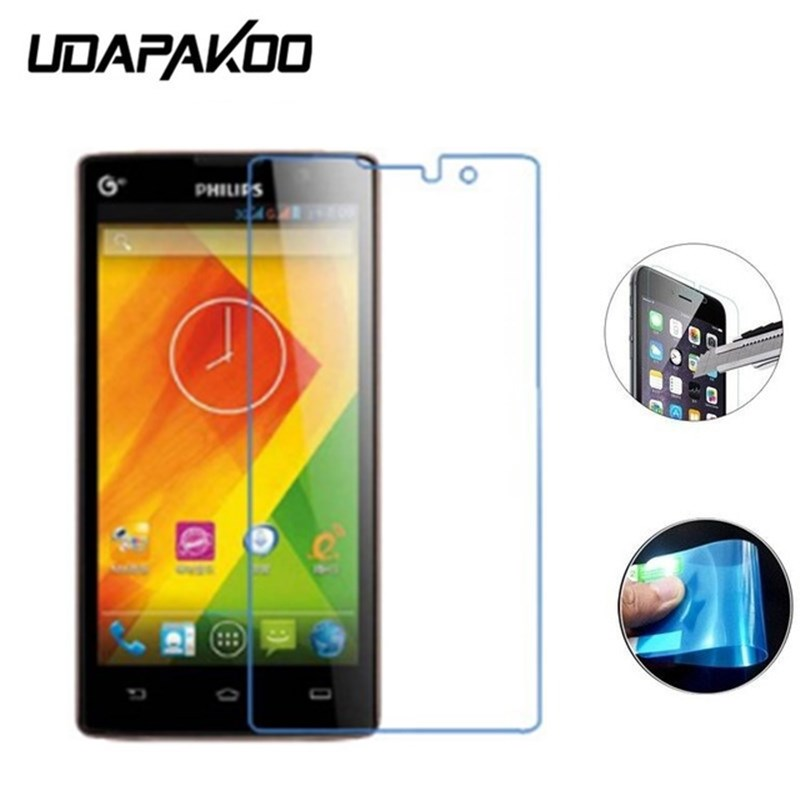 Udapakoo Nano Explosion-proof (Soft Glass) Clear Screen Protector Front Protective Film for Philips Xenium T3500 w3508 w3500