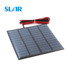 Solar Panel 9V 12V 18V 1.5W 1.8W 1.92W 2W 2.5W 3W 5W 10W 20W Mini Solar Battery Cell Phone Charger Portable DIY with Cable(China)