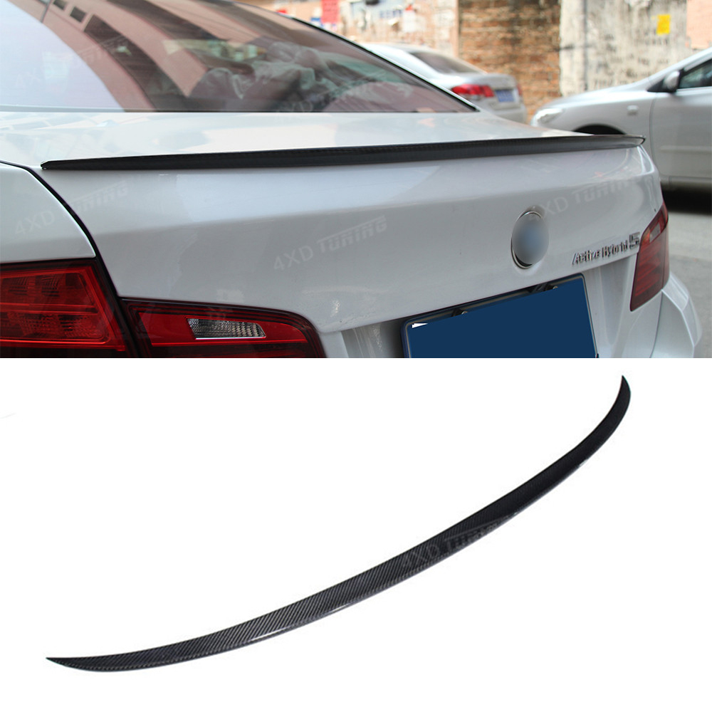 For BMW F10 Carbon Spoiler M5 Style 5 Series F10 & F10 M5 car Carbon Fiber Rear Spoiler Rear Trunk Wing 535i 530i styling 2010+ f10 carbon fiber m4 style spoiler rear trunk lip wings for bmw 5 series f10 m5 2010 2017 520i 523i 525i 528i 535i